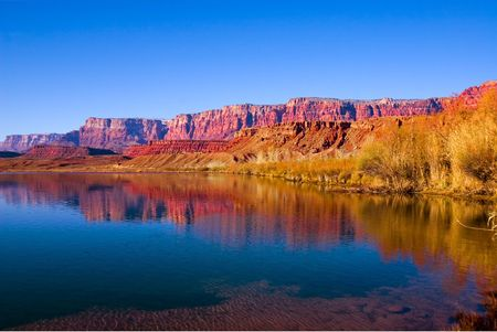 Fishing on Colorado River in Lees Ferry, Arizona
